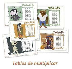 Tablas de multiplicar monstruosas