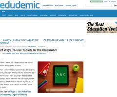 25 Ways To Use Tablets In The Classroom | Edudemic