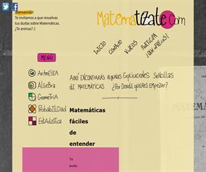 Página web de Matemáticas: Matematízate.com