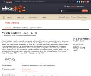 Huidobro, Vicente (1893 - 1948) (Educarchile)