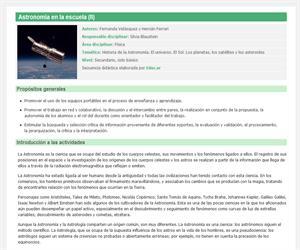 Astronomía en la escuela (II)