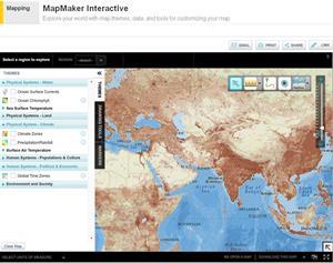 MapMaker Interactive, mapas interactivos educativos. National Geographic Education