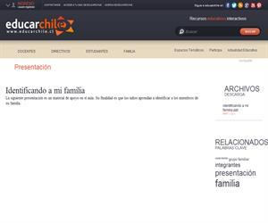 Identificando a mi familia (Educarchile)