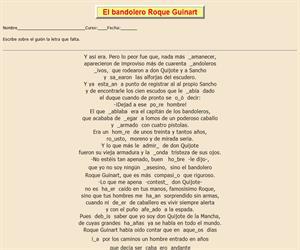 109ª Ficha de ortografía de Don Quijote de la Mancha