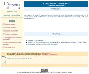 Fracciones. Ordenación y anticipación (Descartes)