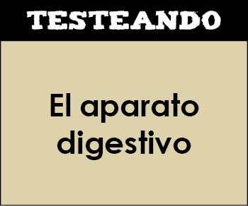 El aparato digestivo. 1º Bachillerato - Biología (Testeando)