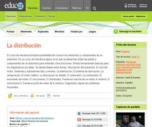 La distribución. Elementos y componentes de un automóvil
