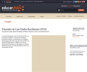 Funerales de Luis Emilio Recabarren (1924) (Educarchile)