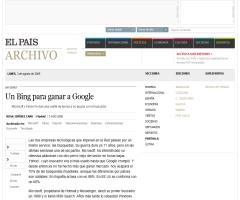 Un Bing para ganar a Google · ELPAÍS.com