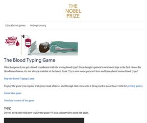 The Blood Typing Game - about blood groups, blood typing and blood transfusions