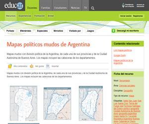 Mapas políticos mudos de Argentina