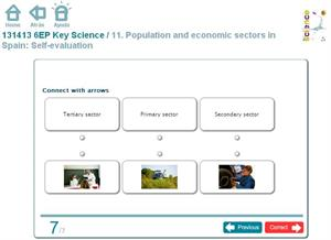 Population and economic sectors in Spain: Self-evaluation. Inglés 6º Primaria (SM)
