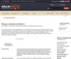 Riesgos naturales antrópicos (Educarchile)