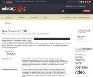 """Nace """"Condorito"""" 1949 (Educarchile)"""