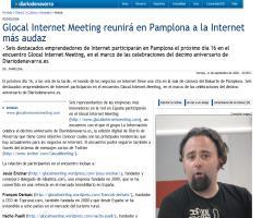Diario de Navarra - Glocal Internet Meeting reunirá en Pamplona a la Internet más avanzada