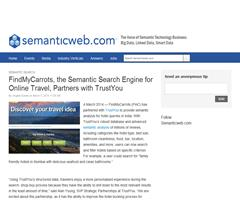 FindMyCarrots, the Semantic Search Engine for Online Travel, Partners with TrustYou