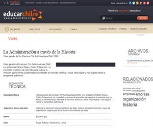 Concurso de docentes: La Administración a través de la Historia (Educarchile)