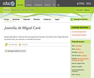 Miguel Cané: Juvenilia