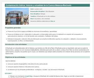 Contaminación hídrica. Cuenca Matanza-Riachuelo: historia y actualidad