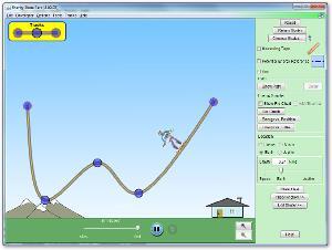 Simulación interactiva: Pista de patinar y Conservación de la Energía