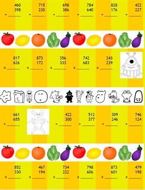 Generador de cuentas u operaciones aritméticas (Vedoque)