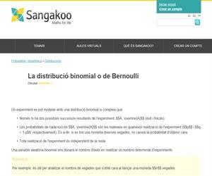 La distribució binomial o de Bernoulli