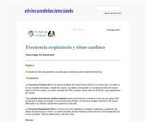 Frecuencia respiratoria y ritmocardíaco