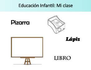 Mi clase. Ficha de actividades sobre el material y espacios del aula