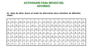 Actividades para repasar el adverbio