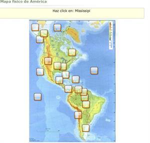 Mapa físico de América (Educaplay)