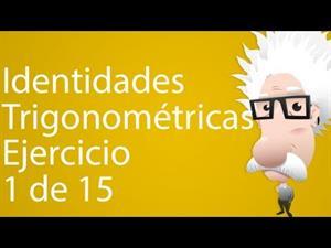 Identidades trigonométricas. Ejercicio 1 de 15 (Tareas Plus)
