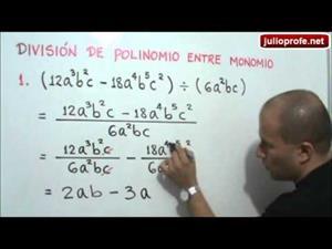 División de polinomio entre monomio (JulioProfe)