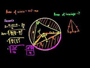 Área de un triángulo inscrito (Khan Academy Español)