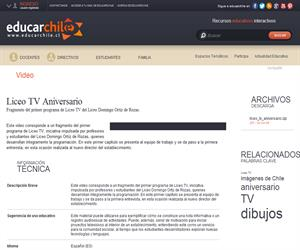 Liceo TV Aniversario (Educarchile)