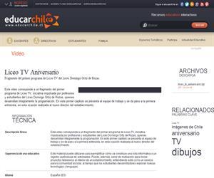 Liceo TV Aniversario (Educarchile)