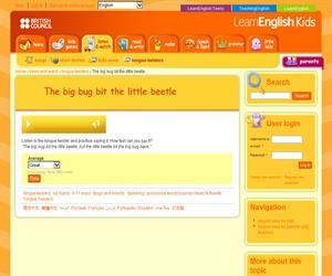 The big bug bit the little beetle, un trabalenguas de British Council