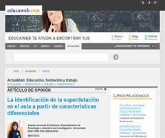 La identificación de la superdotación en el aula a partir de características diferenciales | Amparo Acereda (Educaweb.com)