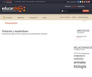 Nutrición autótrofa y heterótrofa (Educarchile)