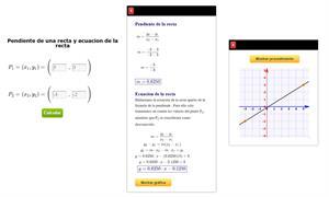 Calculadora para calcular la pendiente de una recta