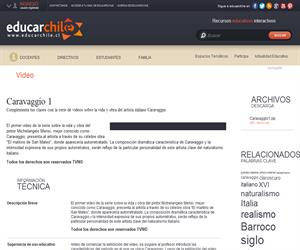 Caravaggio 1 (Educarchile)