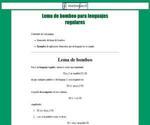 Lema de bombeo para lenguajes regulares