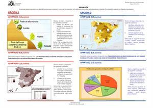 Examen de Selectividad: Geografía. Asturias. Convocatoria Junio 2013