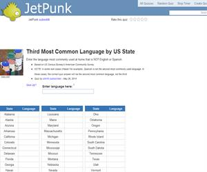 Third Most Common Language by US State