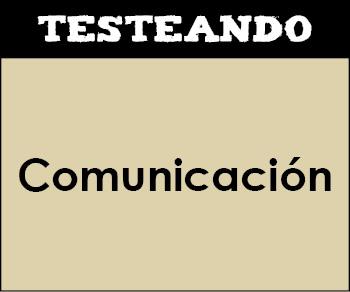 Comunicación. 1º Primaria - Conocimiento del medio (Testeando)