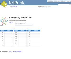 Elements by Symbol Quiz