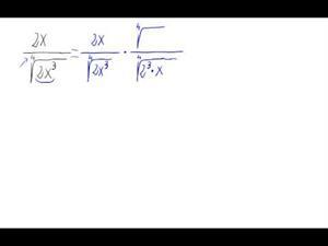 Racionalización (Sin sumas ni restas de raíces en denom.)