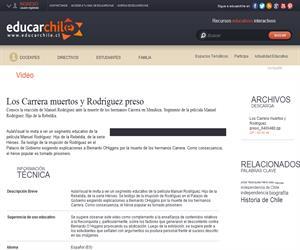 Los Carrera muertos y Rodríguez preso (Educarchile)