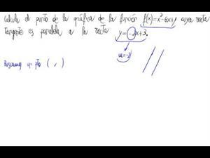 Punto de la gráfica con recta tangente paralela a recta dada