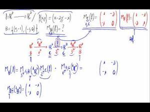 Matriz de una aplicación lineal respecto base (fórmula)