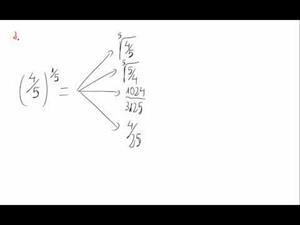 Potencias y exponente fraccionario - Cuestión 2